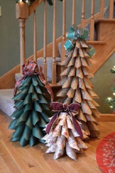 Adornos de navidad hechos con revistas recicladas - Ver arboles de navidad ...