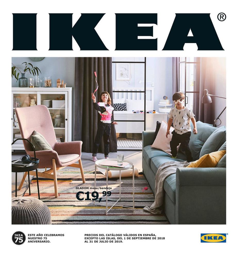 portada catalogo ikea 2019, salon casa moderna con niños jugando en el sofa